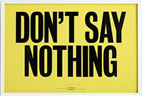 Don´t say nothing